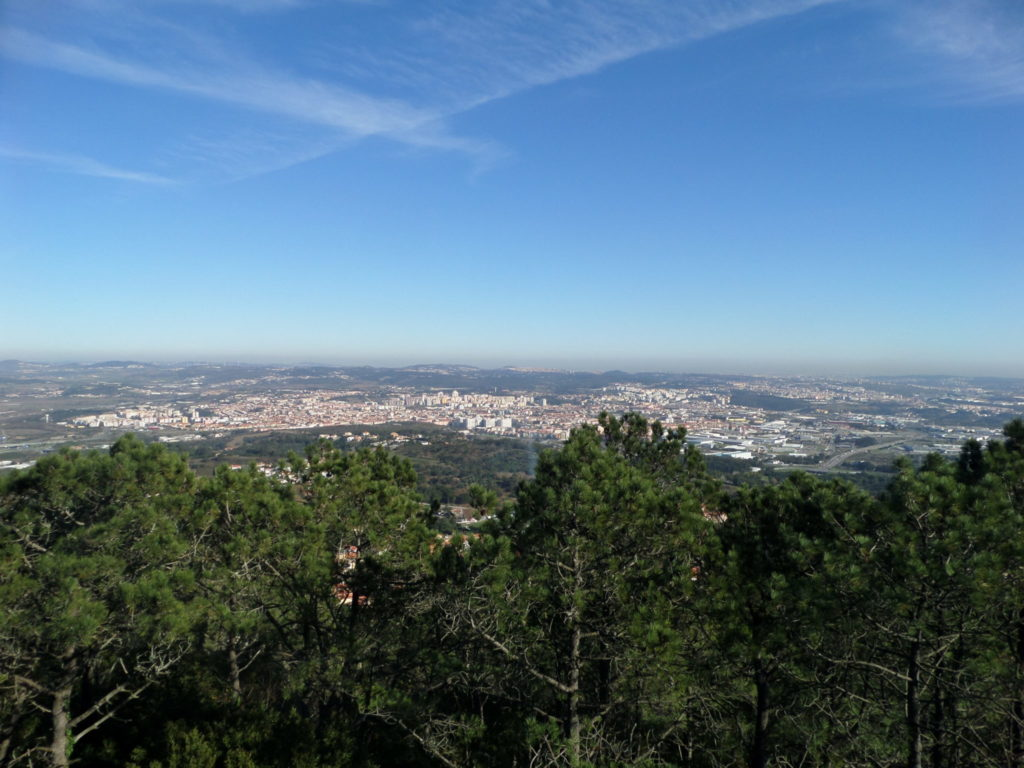 View over Sintra and surroundings from Santa Eufemia, Portugal