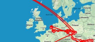 Jirka's Map of Travels in 2017